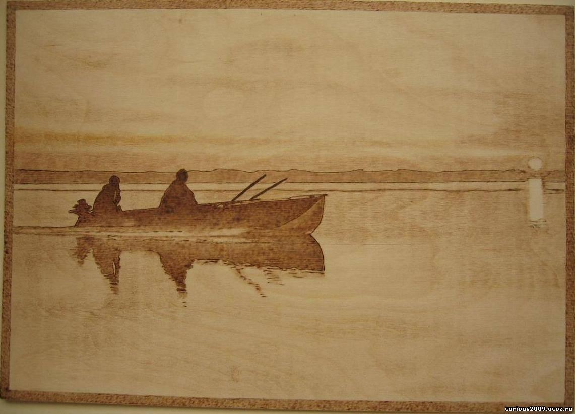 картинки для выжигания по дереву рыбалка